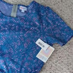 Size XL Lularoe Amelia NWT blues pinks grey zipper